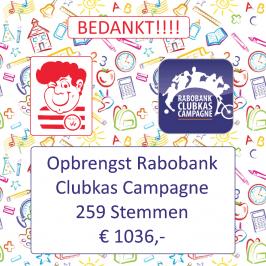Rabobank Clublas Campange Bedankt 2015